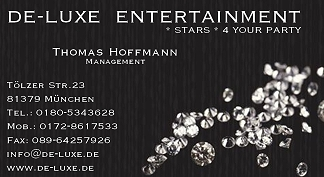 Visitenkarte von DE-LUXE ENTERTAINMENT